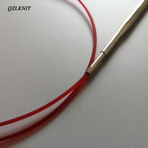 Image 5 - QZLKNIT 100cm,80cm y 60cm tubo de Nylon de alta calidad conjunto de agujas de tejer circulares intercambiables hilo DIY accesorios de punto