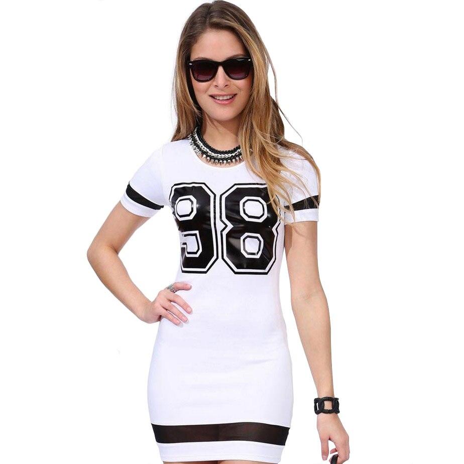 6cf4ca5a62 spain euro sport dress for women aliexpress uk 98 letters printed bodycon  bondage t shirt dress minnie dreesses casual vestidos