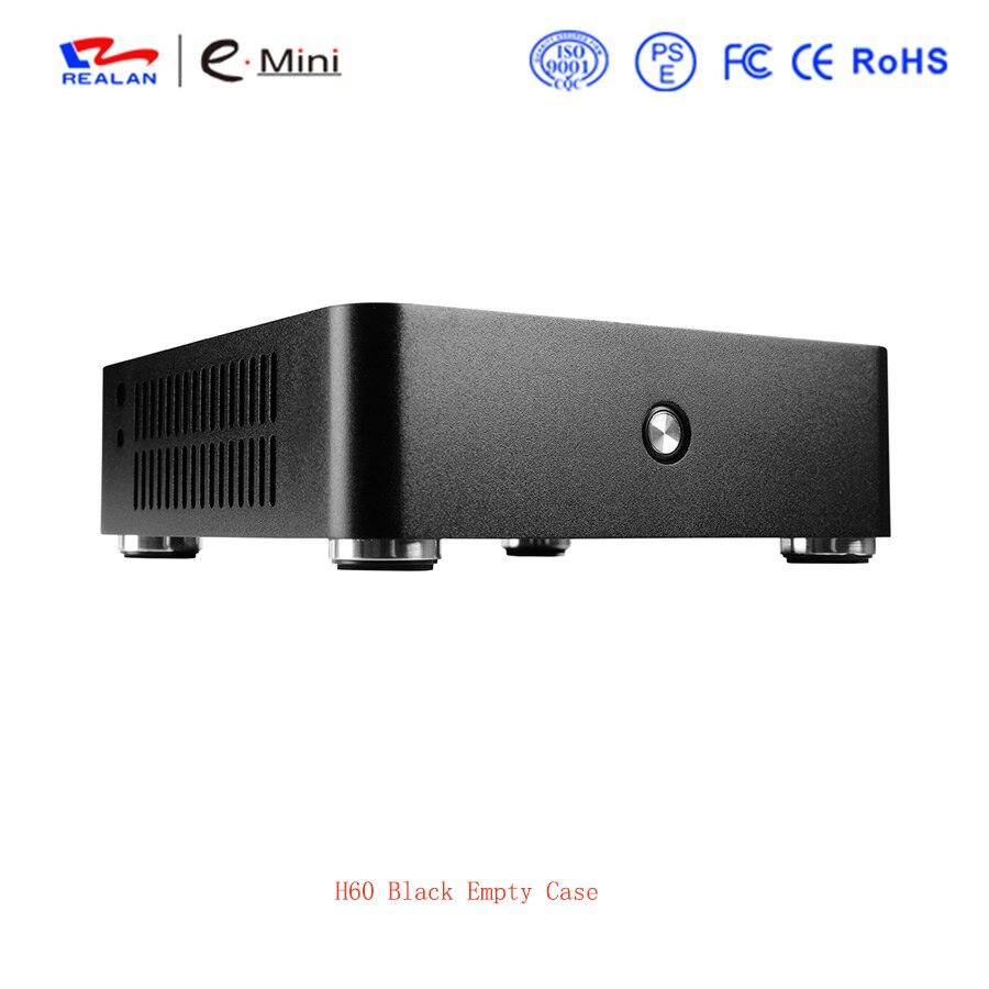 Case de Alumínio Htpc para Mini Placa-mãe sem Fonte de Alimentação Pces Realan Computador Case Itx 4 H60