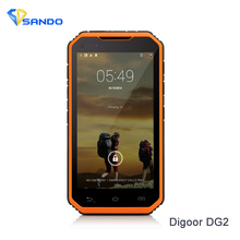 Original DIGOOR DG2 Plus Smartphone 1GB RAM 8GB ROM Android 4.4 Quad-Core 3G Rugged Phone 8MP Wi-Fi GPS NFC Mobile Phone