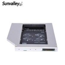"""Sunvalley 12,7 мм Универсальный алюминиевый сплав 2nd HDD Caddy IDE to SATA 2,"""" HDD SSD чехол DVD/CD-ROM Оптический отсек для ноутбука"""