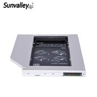 Sunvalley 12.7mm Universal Aluminium 2nd HDD Caddy IDE naar SATA 2.5