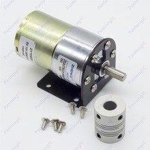 ZGA37RG 12 V DC 100 RPM 기어 박스 모터 1/34. 5 높은 토크 3500 RPM 가역 모터 + 모터 홀더 + 6mm 8mm 유연한 커플 링