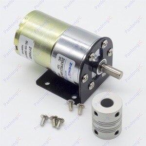 Image 1 - ZGA37RG 12ボルトdc 100 rpmギアボックスモーター1/34。5高トルク3500 rpmリバーシブルモーター+モーターホルダー+ 6ミリメートルに8ミリメートルフレキシブルカップリング