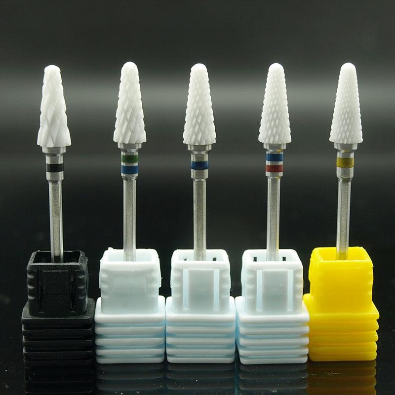 EasyNail 1pcs  Mill Ceramic Nail Drill Bits For Electric Manicure Machines Pedicure Nail Art Salon Polish Tools M0610 art ceramic