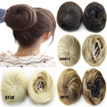 1PC 12cm 30g Synthetic Hair Bun Black Brown Blonnde Mix color Straigtht Extension Bun