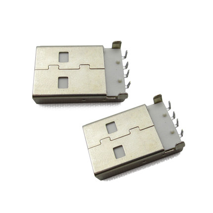 10Pcs lot USB 2 0 Male A Type USB PCB Connector Plug Right Angle 90 degree