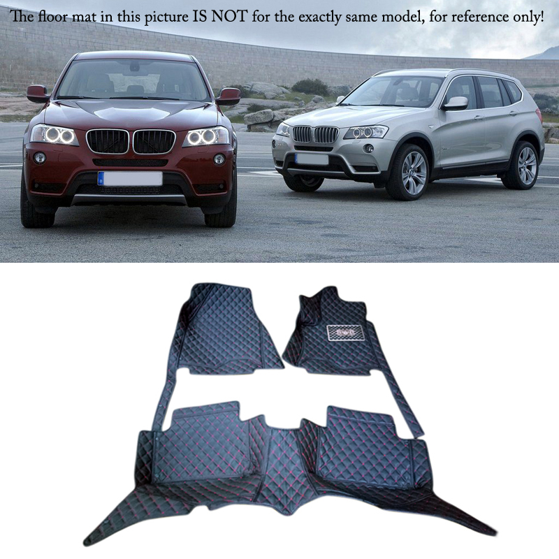 цена Auto Interior Accessories Leather Floor Mats Carpets Foot Pad Kit For BMW X3 E83 2006 2007 2008 2009 2010 онлайн в 2017 году