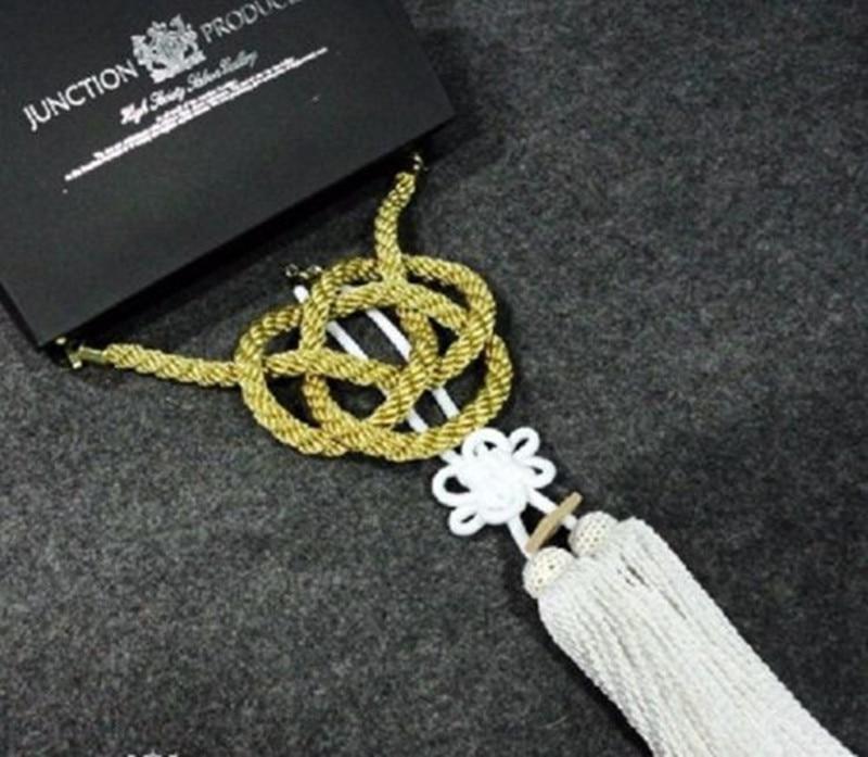 Nouveau Charme Vip Jonction Produire JDM Fusa Blanc Kiku JP Noeud et Or Kin Tsuna Corde pour car styling
