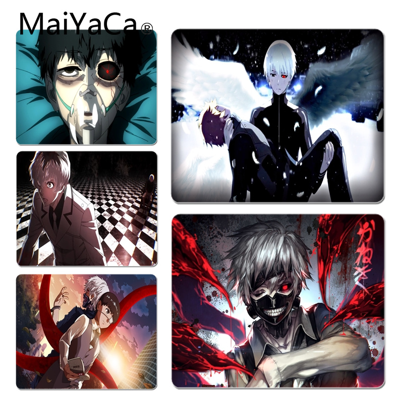 MaiYaCa New Arrivals Japan Tokyo Ghoul Customized laptop Gaming mouse pad Size for 18x22cm 25x29cm Small Mousepad
