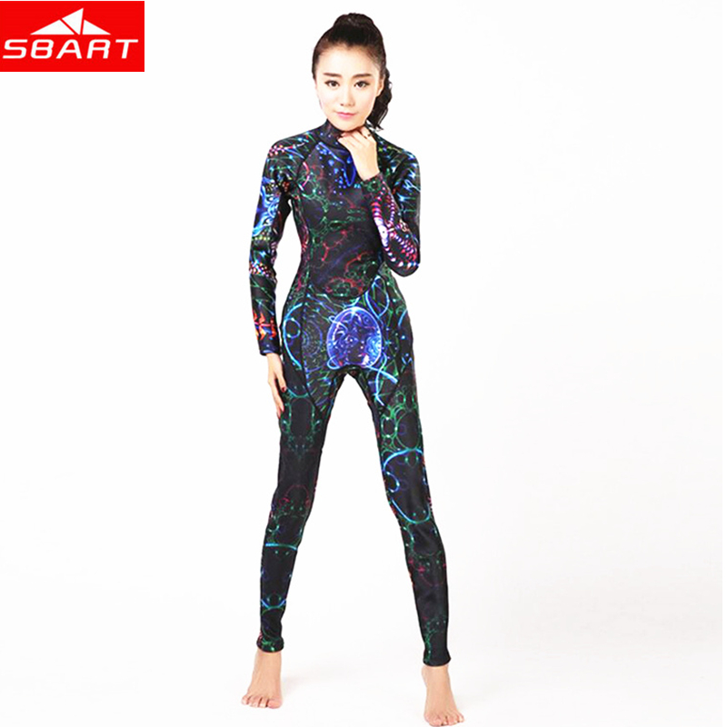цена на SBART 3MM Neoprene Diving Wet Suits Women's One-Piece Long Sleeve Swimming Surfing Snorkeling Scuba Diving One-piece Wet Suits