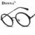 Donna Armações De Óculos De Metal Mulheres Clássico Optical Óculos Redondos Lerdo Quadro Lente Clara Óculos de Leitura Luz Ultra DN24