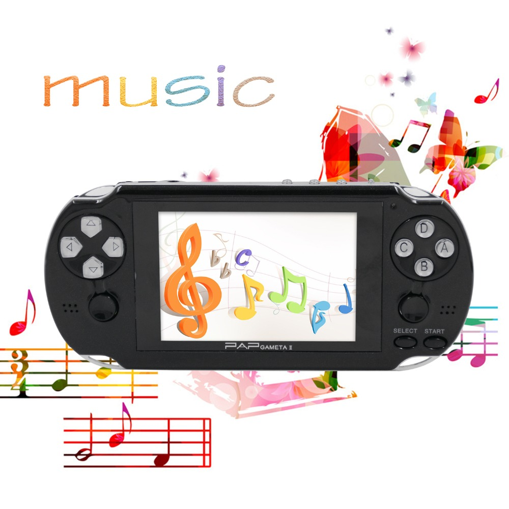 PAP Gameta II Handheld Game Consoles Portable 64 Bit Retro Video Games Players Built in 4GB Support TV Out MP3 MP4 MP5 Camera