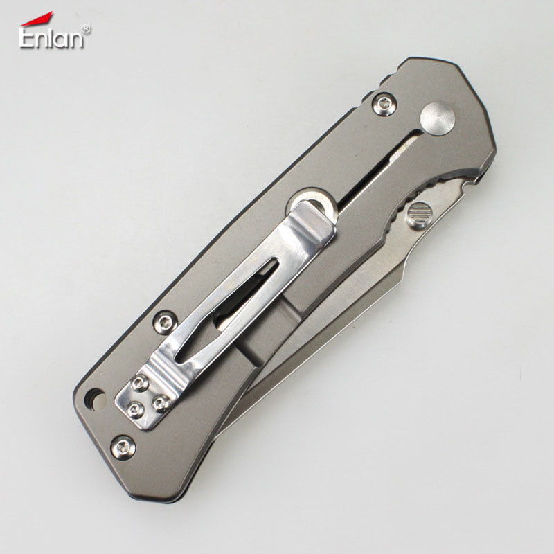 9Cr13Mov Blade Tools Top Knives Utility EDC Camping Survival EL 08 Folding Enlan Knives Pocket G10 Hunting Outdoor Handle Knife