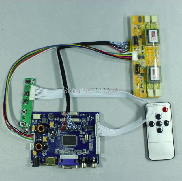"""Placa de Controle HDMI + VGA + AV + Áudio VS-TY2668-V1 para 17 """"~ 19"""" 1280x1024 Lcd painel"""