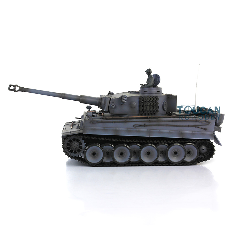 цена на 2.4Ghz HengLong Gray German Tiger I 1/16 Plastic Version RTR RC Tank Model 3818