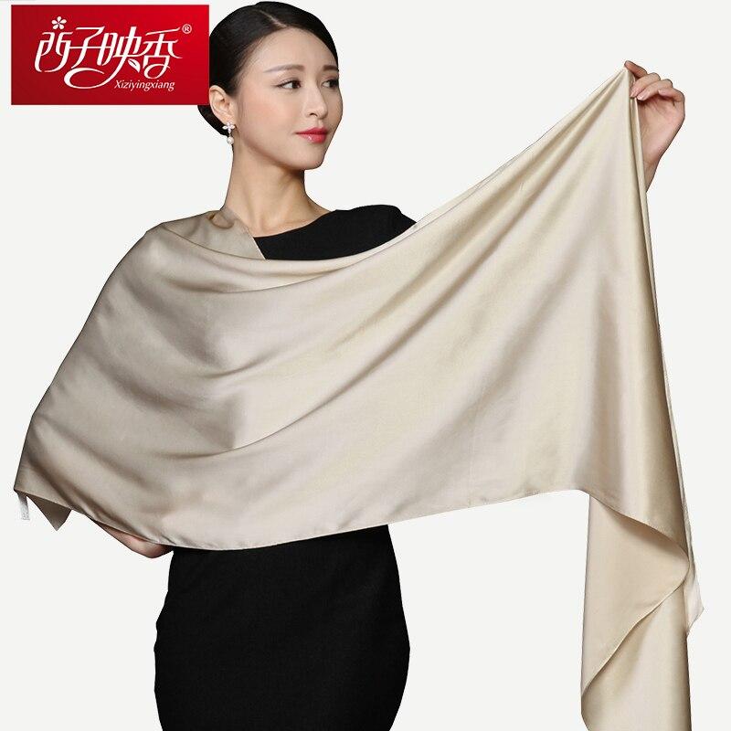 100% Naturliga Silk Scarves and Shawls Winter Women Silk Scarf 2018 - Kläder tillbehör - Foto 2