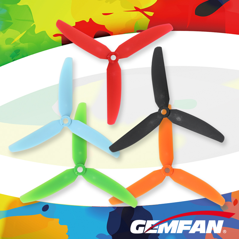 Gemfan 5030 5*3 3-Blade Prop CW CCW Nylon Propeller for RC 250 F330 Quadcopter for QAV250 210 DIY Drone FPV Racer low vibration 4 pairs of high performance 5030 5x3 3 blade prop cw ccw nylon propeller for rc 250 f330 quadcopter yellow