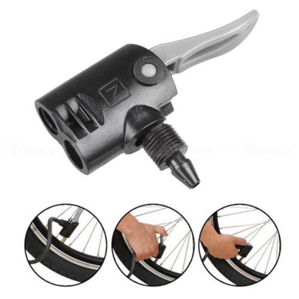 1Pc Bicycle Pump Nozzle Hose Adapter Black Schrader Valve Pump Accessories TO