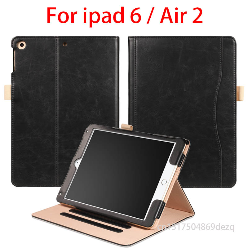 For ipad air 2 case high quality Case for apple ipad air 2 tablet Portfolio Bag for iPad 6 With Magnetic Auto Wake Up Sleep high quality 10 25 4cm colorful hard netbook laptop sleeve case bag for ipad 2 3 4 5 6 sleeve bag