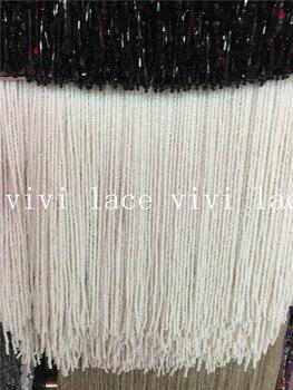 yy011 new 5yards ivory round beads tassel fringe 15cm width for decoration dress/fashion designer