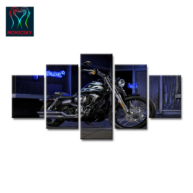 harley davidson living room decor ideas sofas zimbabwe 5modules canvas art posters hd pictures printed on for the modern home wall artwork