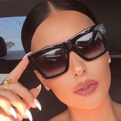 Luxus Markendesigner Kim Kardashian Fat Top Sonnenbrille Frauen Retro - Bekleidungszubehör - Foto 1