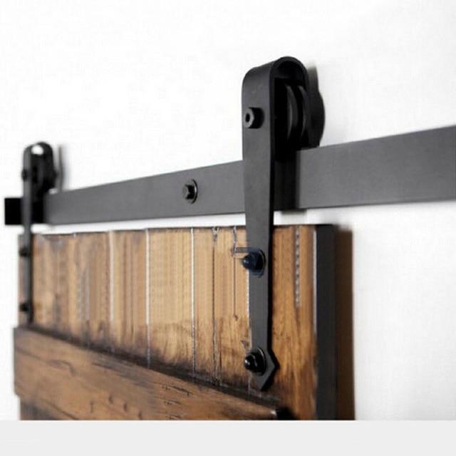 charmant Portes de bois porte coulissante matériel accessoires, Américain grange  portes poulie coulissant rail de porte