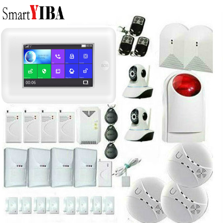 SmartYIBA 3G WIFI GPRS Home Security Alarm System 4.3 Inch Touch Screen APP Remote Control Burglar Alarm Kit Multi Defense ZonesSmartYIBA 3G WIFI GPRS Home Security Alarm System 4.3 Inch Touch Screen APP Remote Control Burglar Alarm Kit Multi Defense Zones