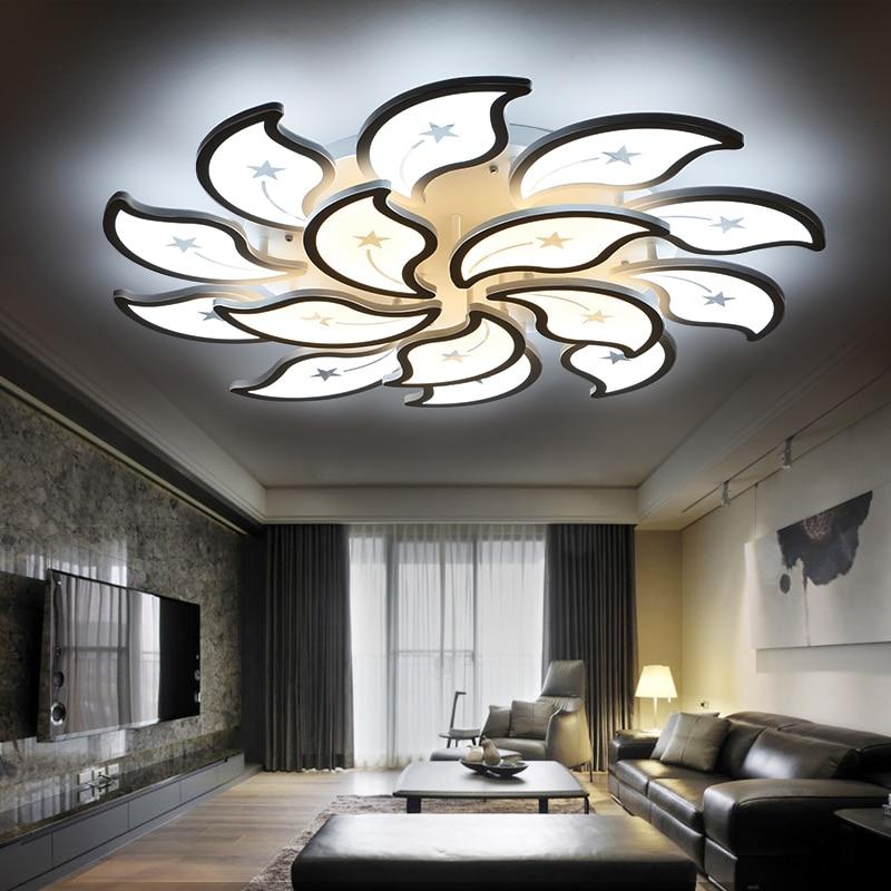 nueva acrlico moderna llev las luces de techo para la sala de estar dormitorio plafon led home lmpara de techo de iluminacin