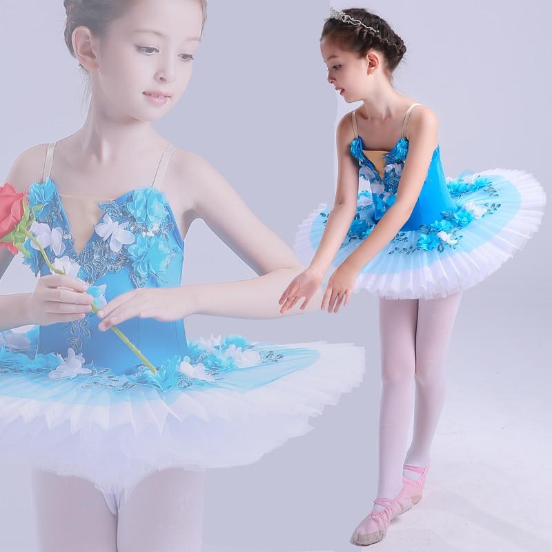 Fête des enfants concours Ballet professionnel lac des cygnes fille Pompon jupe en fil costume de ballet