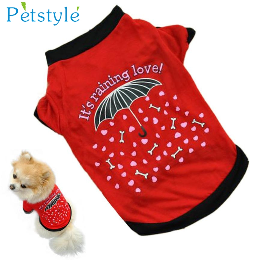 2017 New Summer Pet Vest T Shirt Puppy Small Dog Cat Pet Clothes Apparel Hot Levert Dropship 3MAR22