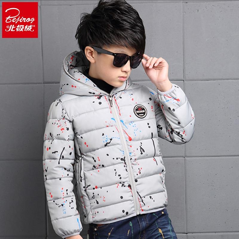 2016 Yeni Moda Renkli Pamuk Erkek Giysileri Katı Beyaz Ördek Aşağı Trendful Kış Cutton Sıcak Sevimli çocuk Giysileri giysileri