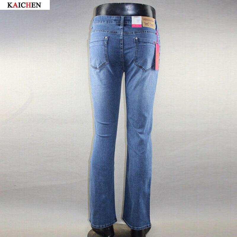 ФОТО Free Shipping High Quality New Arrival Men's Jeans Slim Bell-bottom Boot Cut Pants Male Elastic Ligh Blue Denim Flares Trousers
