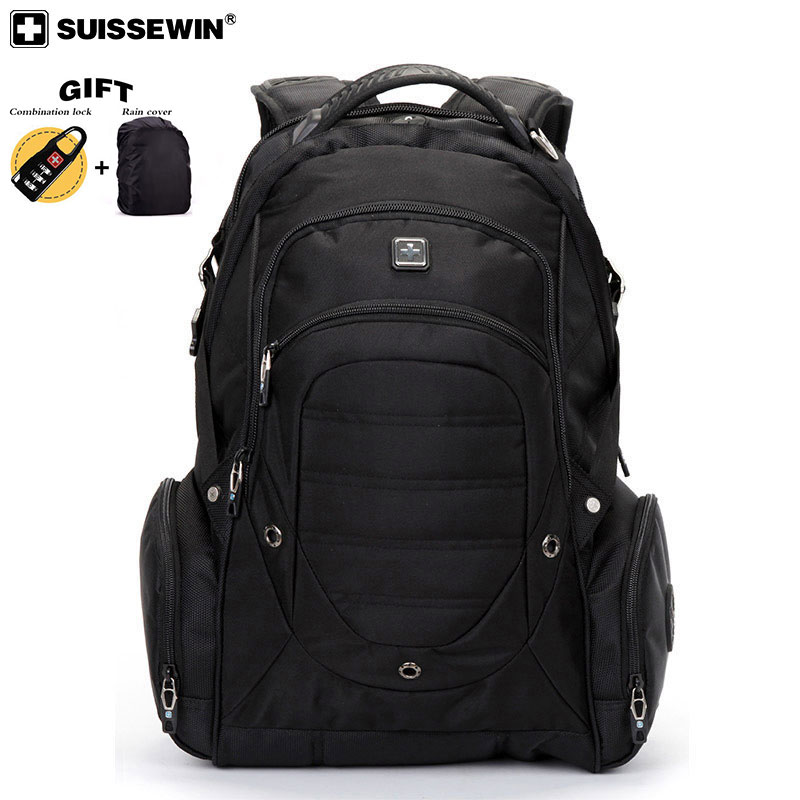 2019 New Swiss Large Capacity Laptop Backpack For Laptop 17.3 Inch Fabric Bag Woman And Men Travel Package Waterproof Bagpack
