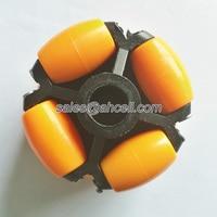 70mm Plastic Omniwheel Conveyor Robot Wheel Omni Directional Double Layer Bearing Caster Roller