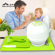 Middia food mills vegetable grinders manual grinding tool set baby puree maker Fruit Juicer ceramic knife peeler set