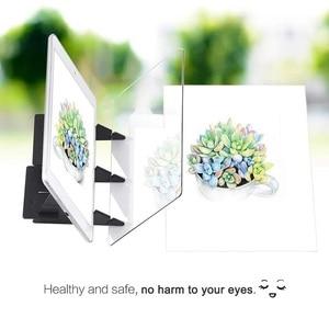 Image 4 - Tablette graphique avec miroir éclairé, pochoir réfléchissant, intensité variable, planche à dessin, écriture pour croquis, pour projet de téléphone