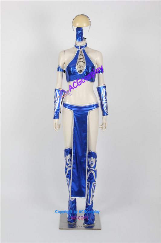 Mortal Kombat Kitana Cosplay Costume Acgcosplay Include Mask And