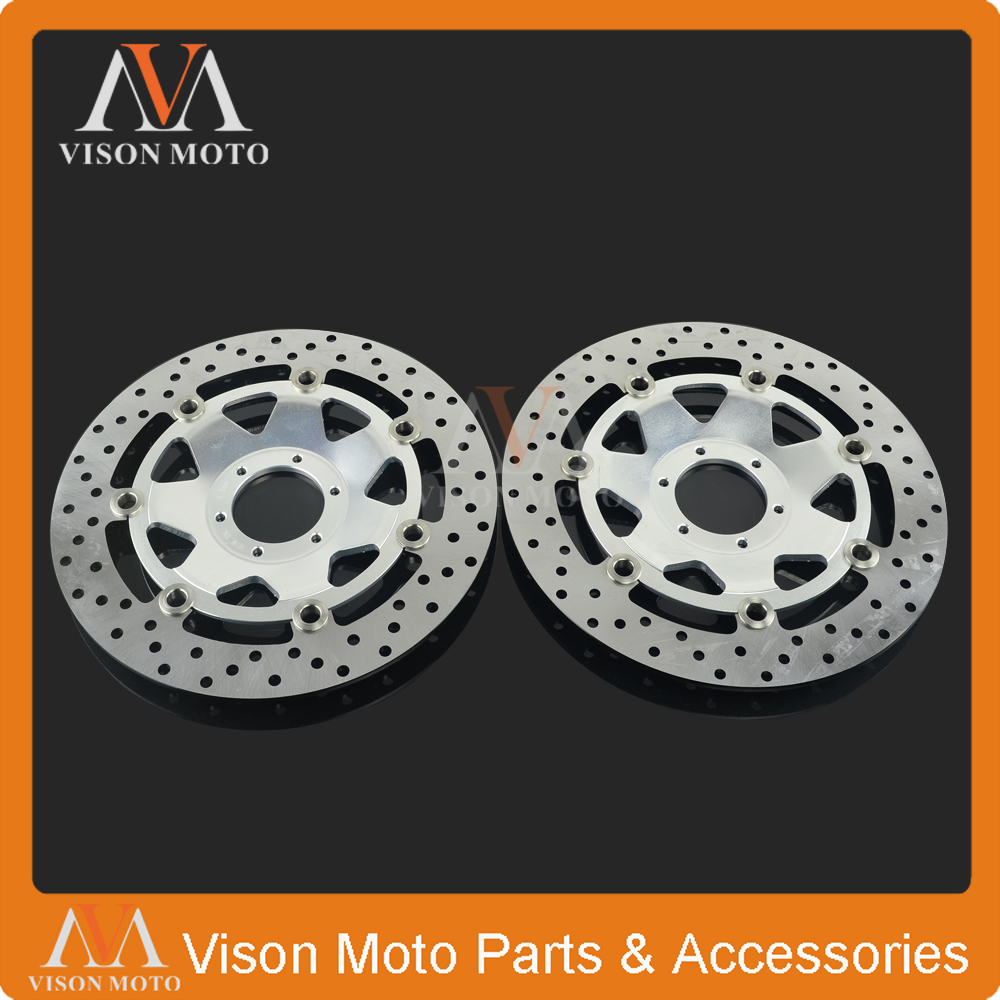 2PCS Front Floating Brake Disc Rotor For HONDA XL100V XL 1000 V 03 04 05 06 07 08 09 10 11 12 GL1500 GL 1500 97 98 99 00 01 02 3 94 95 96 97 98 99 00 01 02 03 04 05 06 new 300mm front 280mm rear brake discs disks rotor fit for kawasaki gtr 1000 zg1000