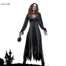 a345e9011391 Donna Fantasma Zombie walking dead Corpse Bride Spaventoso Cosplay Halloween  Vampire Costumi di Carnevale Purim Bar