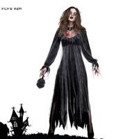 Woman Ghost Zombie walking dead Corpse Bride Scary Cosplays Halloween Vampire Costumes Carnival Purim Nightclub Bar party dress