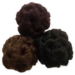 9 цветов pervado волос Синтетические волосы вьющиеся Chignon коготь прически булочка Интимные аксессуары Для женщин кусок волос Стиль высокое