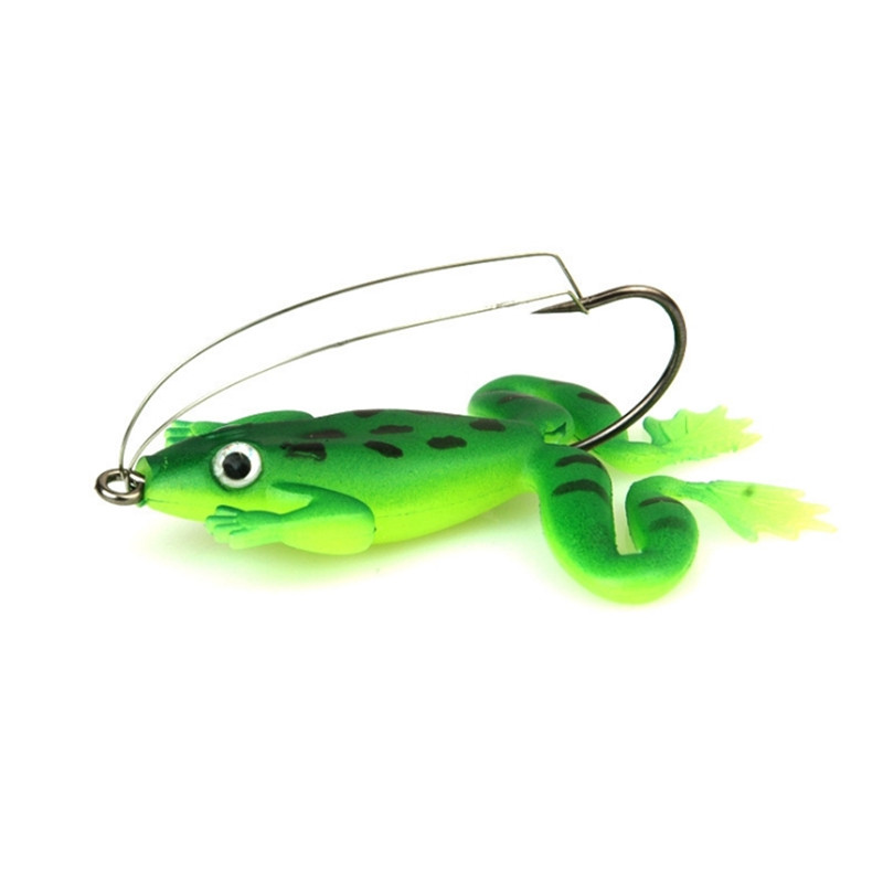 1pcs/lot Frog Lure 6cm 5.2g Fishing Lure Silicone Soft Frog Bait Artificial  SwimBait With Hook Pesca Fishing Tackle