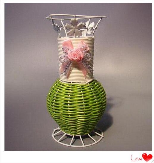 Per oggetti di scena di nozze decorazione domestica for Vasi in rattan
