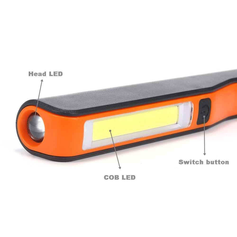 Alonefire C018 البسيطة التفتيش مصباح cob led usb قابلة المغناطيسي القلم كليب اليد شعلة المصباح أضواء العمل