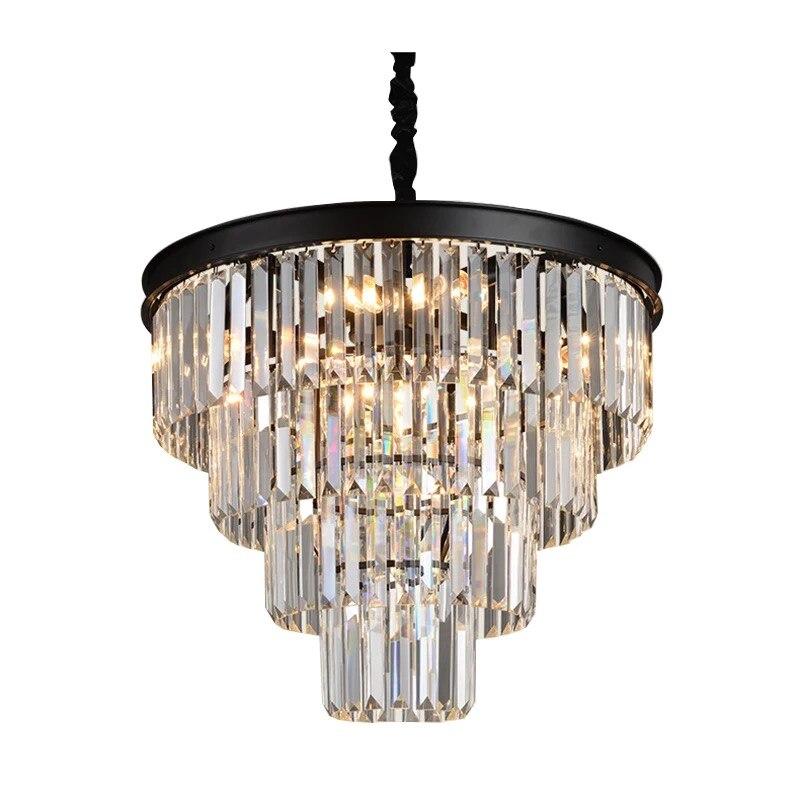 Lámpara colgante G292 de lujo con luz de suspensión redonda de hierro y cristal claro con dije en forma de tarta gris humo moderno para Hotel o comedor o Villa