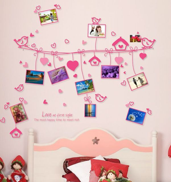 Cinta Burung Bingkai Foto Gambar Kecantikan Poster Dinding R Tidur Stiker Busana Tv Latar Belakang