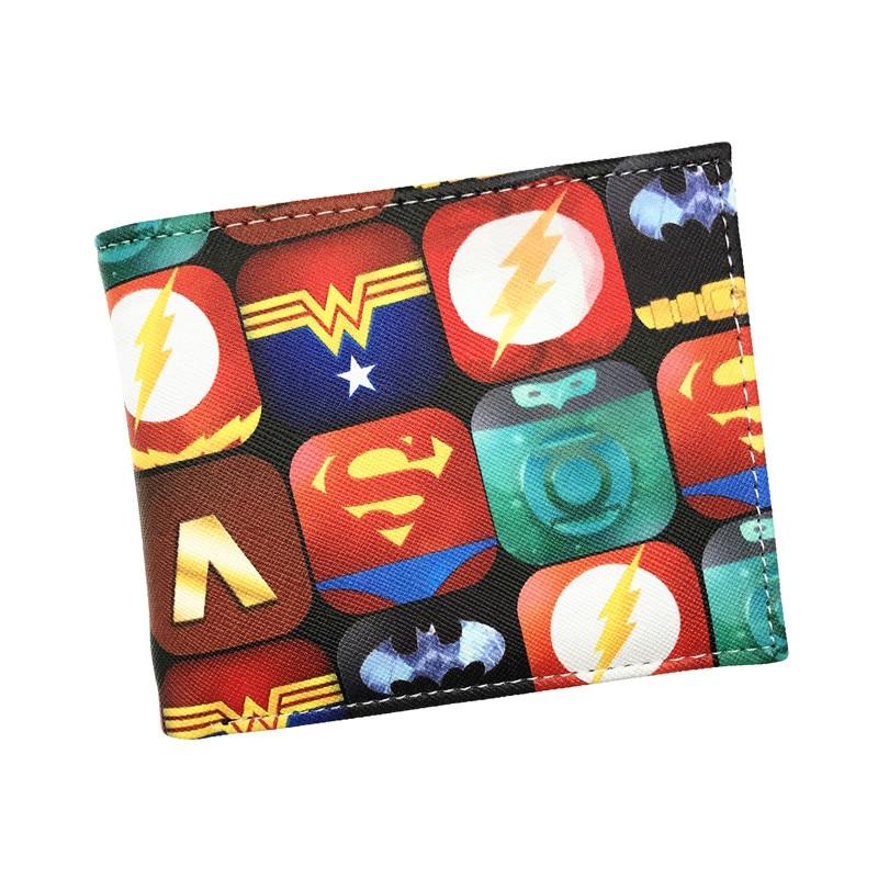 New Design Coin Pure Anime DC Heroes Bat Man Wonder Woman Hatsune Miku Harley Quinn Short Wallet With Coin Pocket