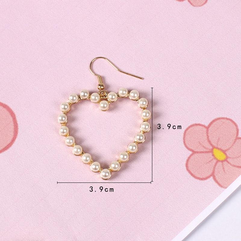 Prachtige harten van pareloorbellen Heet smelten Heerlijk uitgehouwen - Mode-sieraden - Foto 4